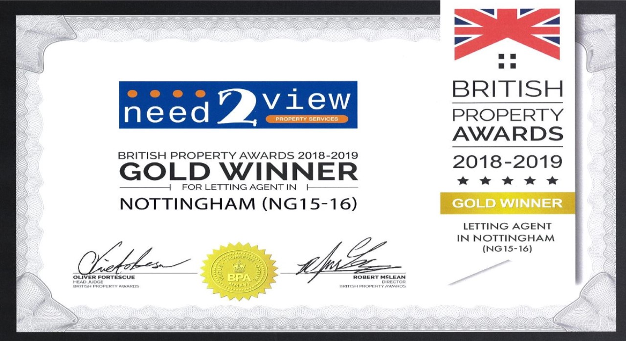Gold award for Lettings
